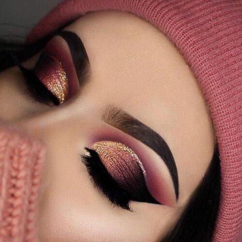 سایه چشم های زیبا با خط چشم